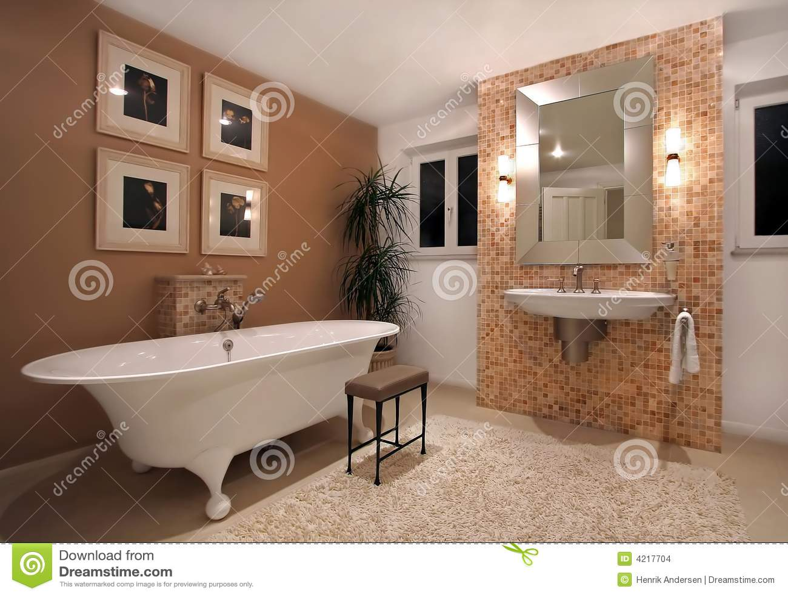 De ruimte van het bad