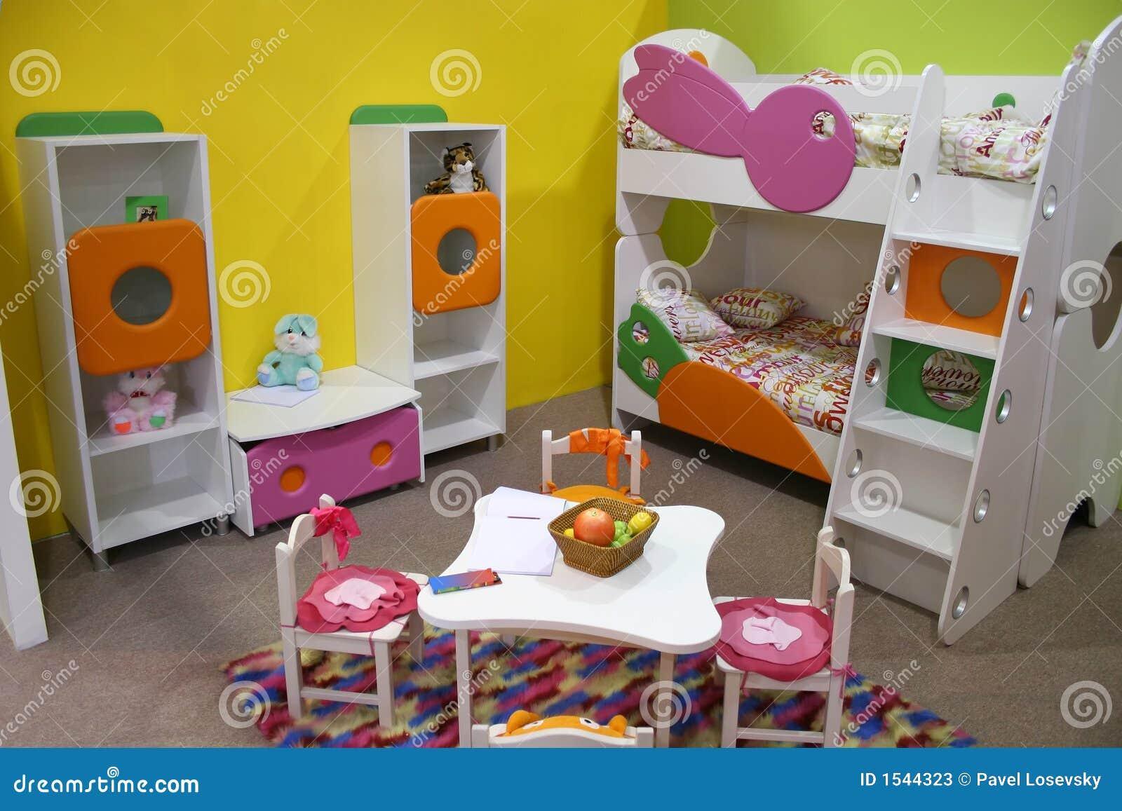 De ruimte van het kind speelkamer stock afbeelding afbeelding 1544323 - Ruimte van het meisje parket ...
