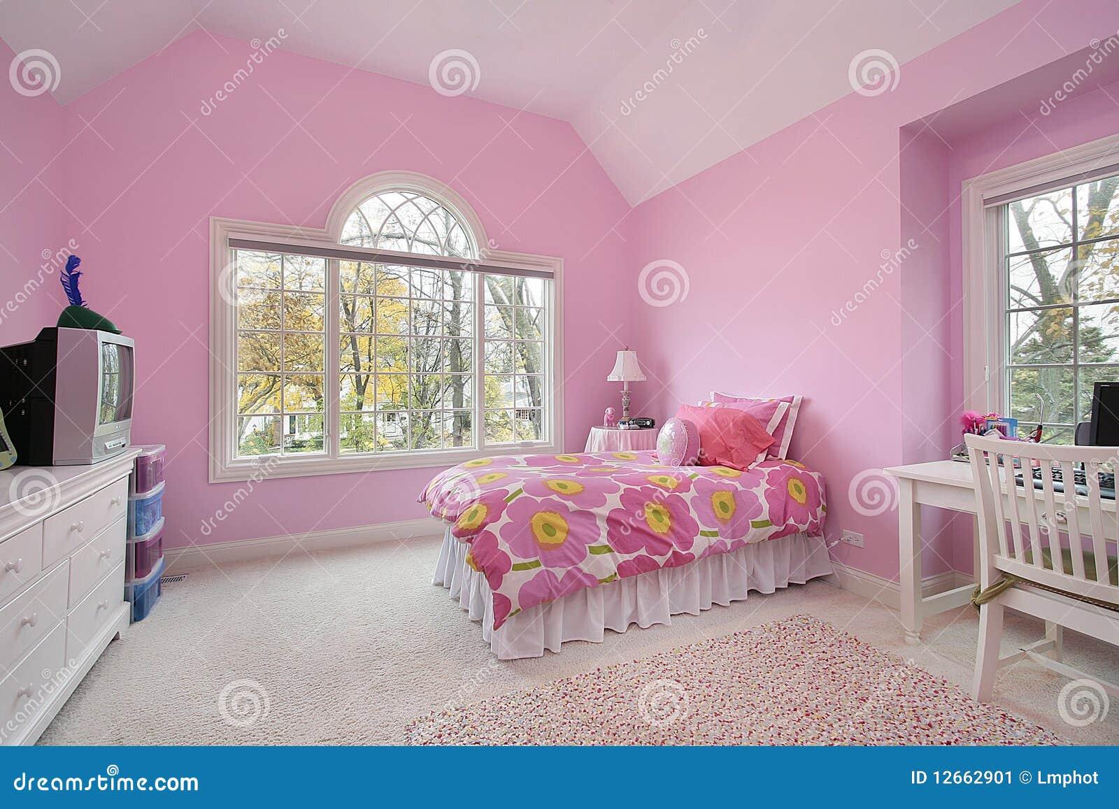 De ruimte van het roze meisje stock afbeelding afbeelding 12662901 - Ruimte van het meisje parket ...