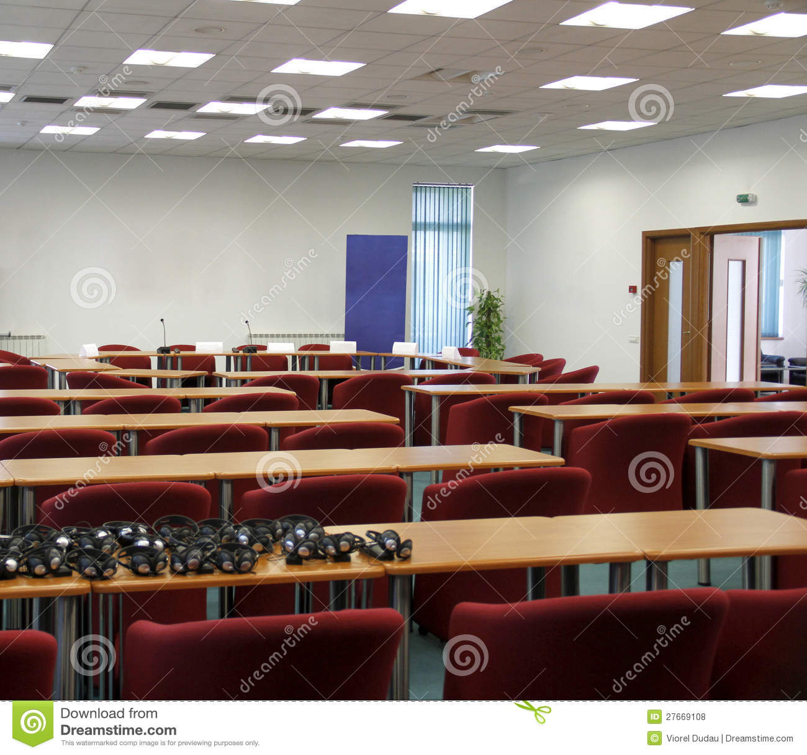 De ruimte van het seminarie