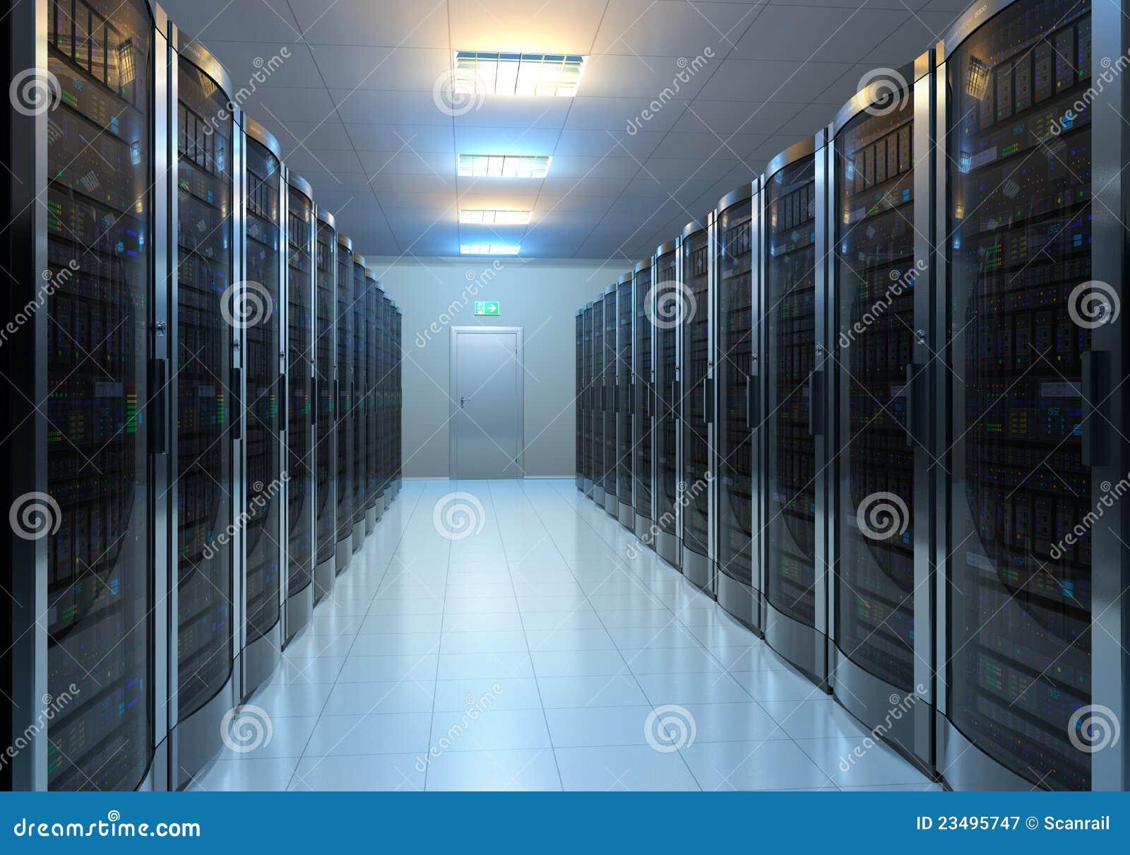 De ruimtebinnenland van de server
