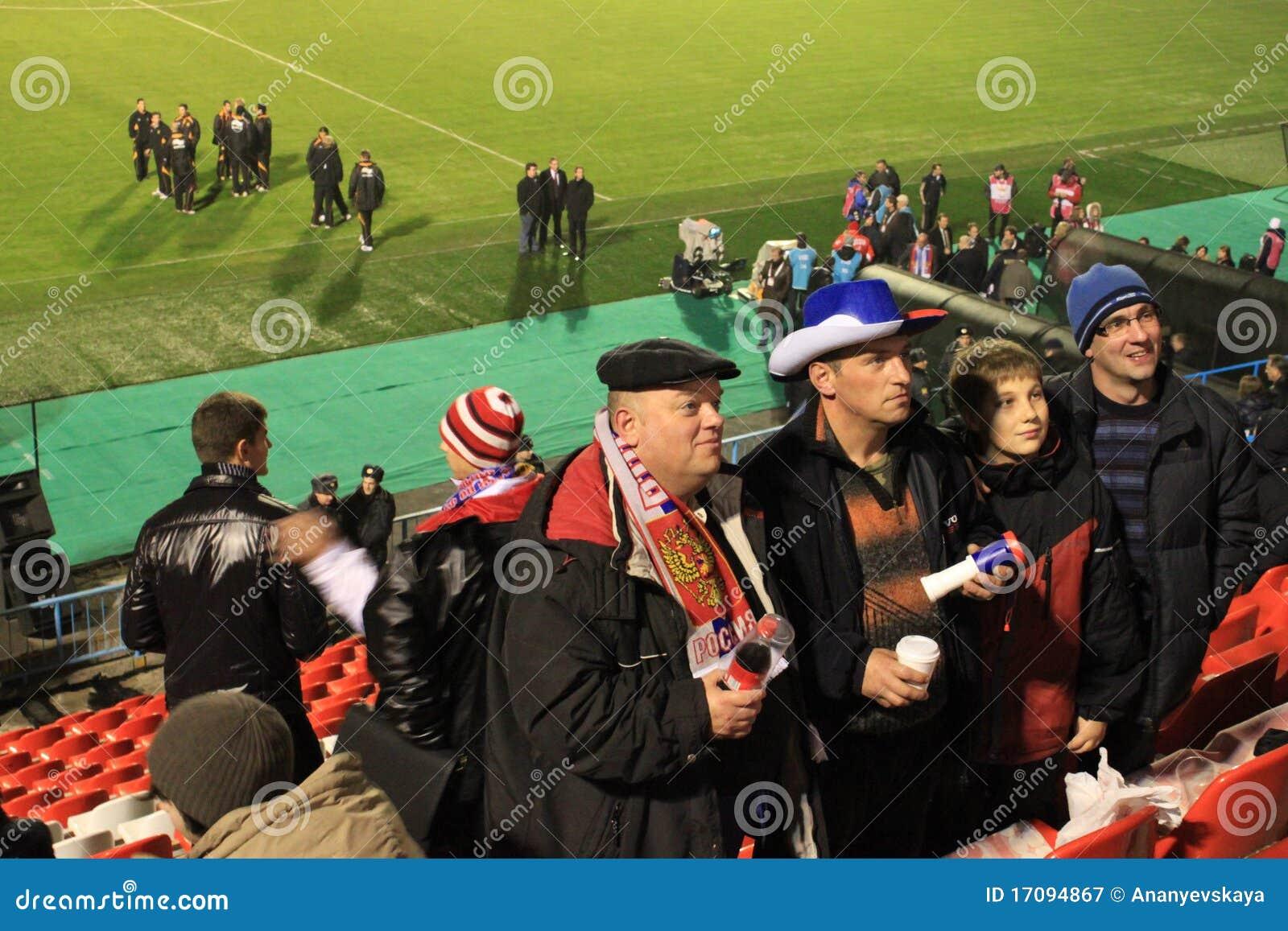 De Russische Ventilators van de Voetbal