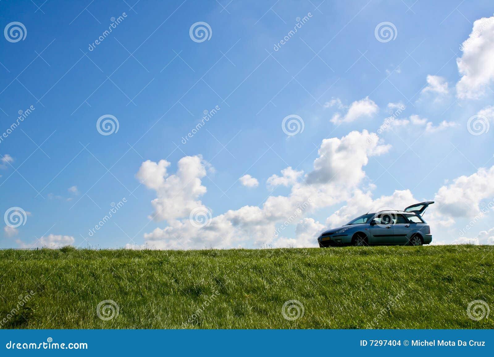 De rust van de auto einde