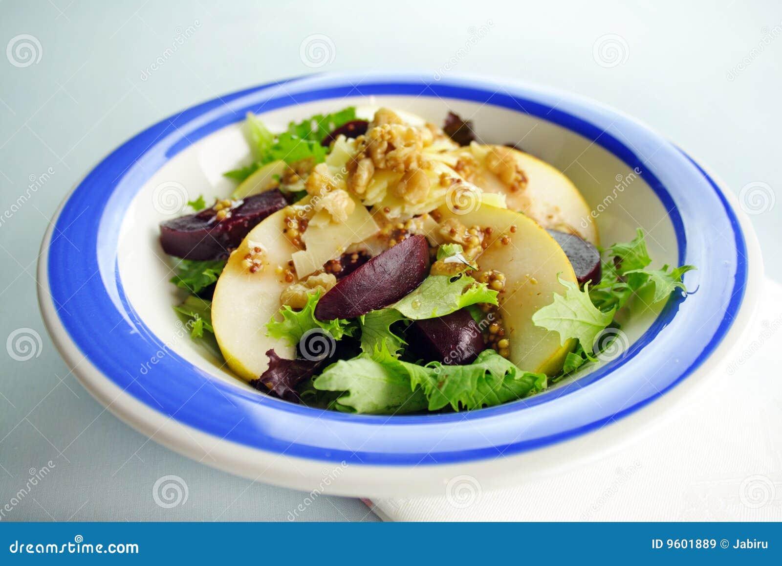 De salade van bieten stock afbeelding afbeelding for Vers de salade