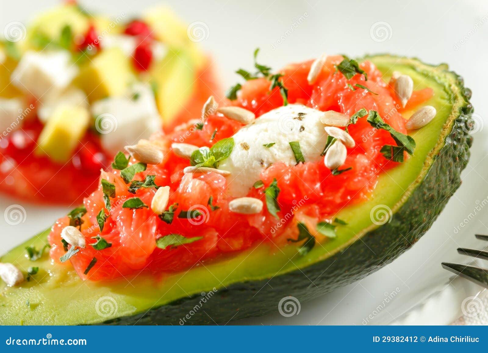 De salade van de avocado