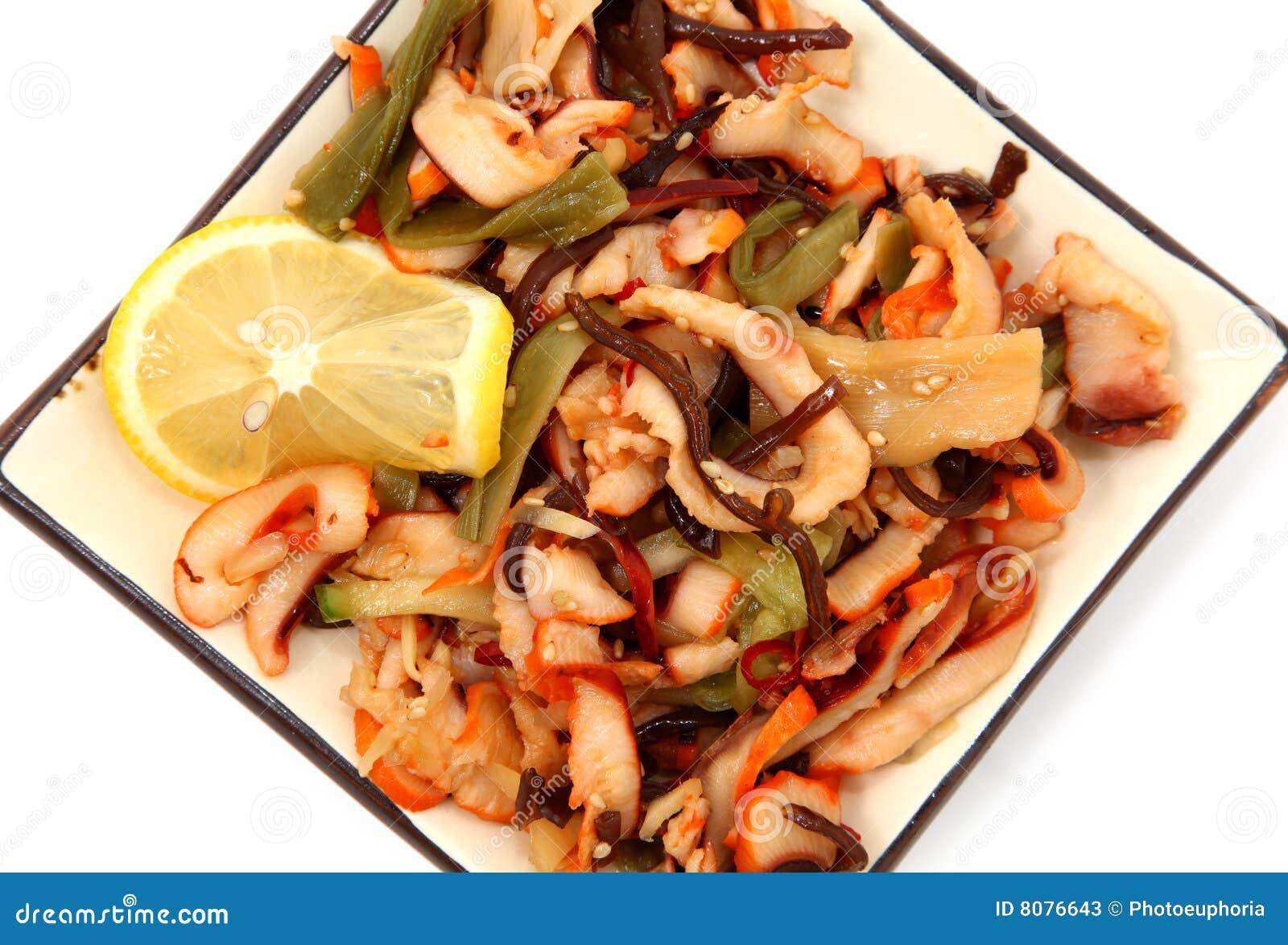 De Salade van de pijlinktvis
