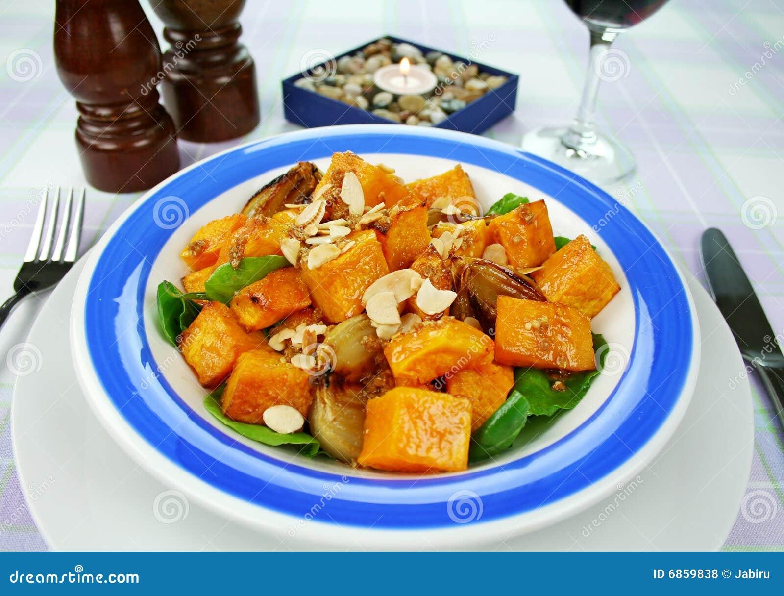 De Salade van de pompoen en van de Ui