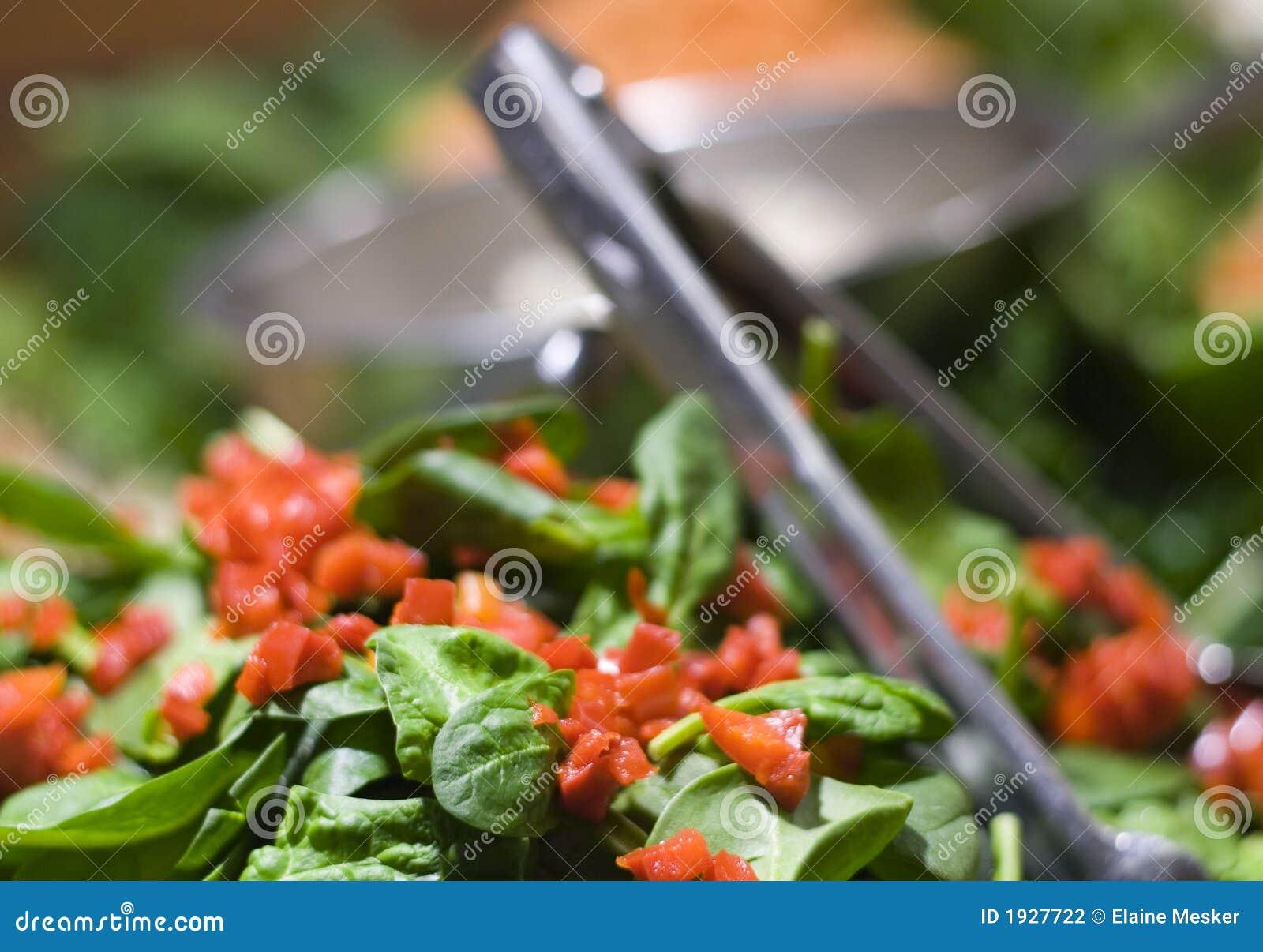 De Salade van de spinazie