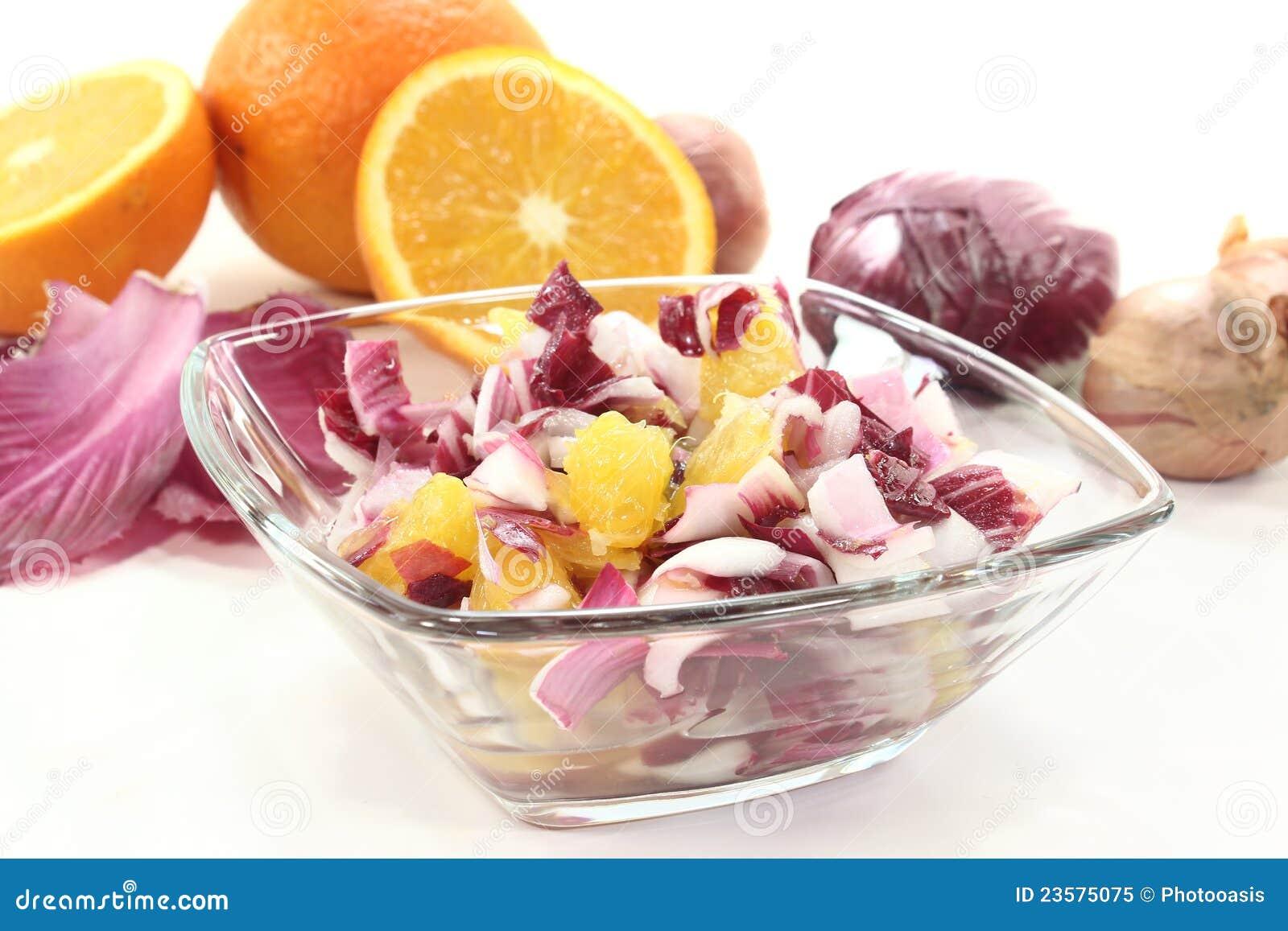 De salade van het witlof stock afbeelding afbeelding for Vers des salades
