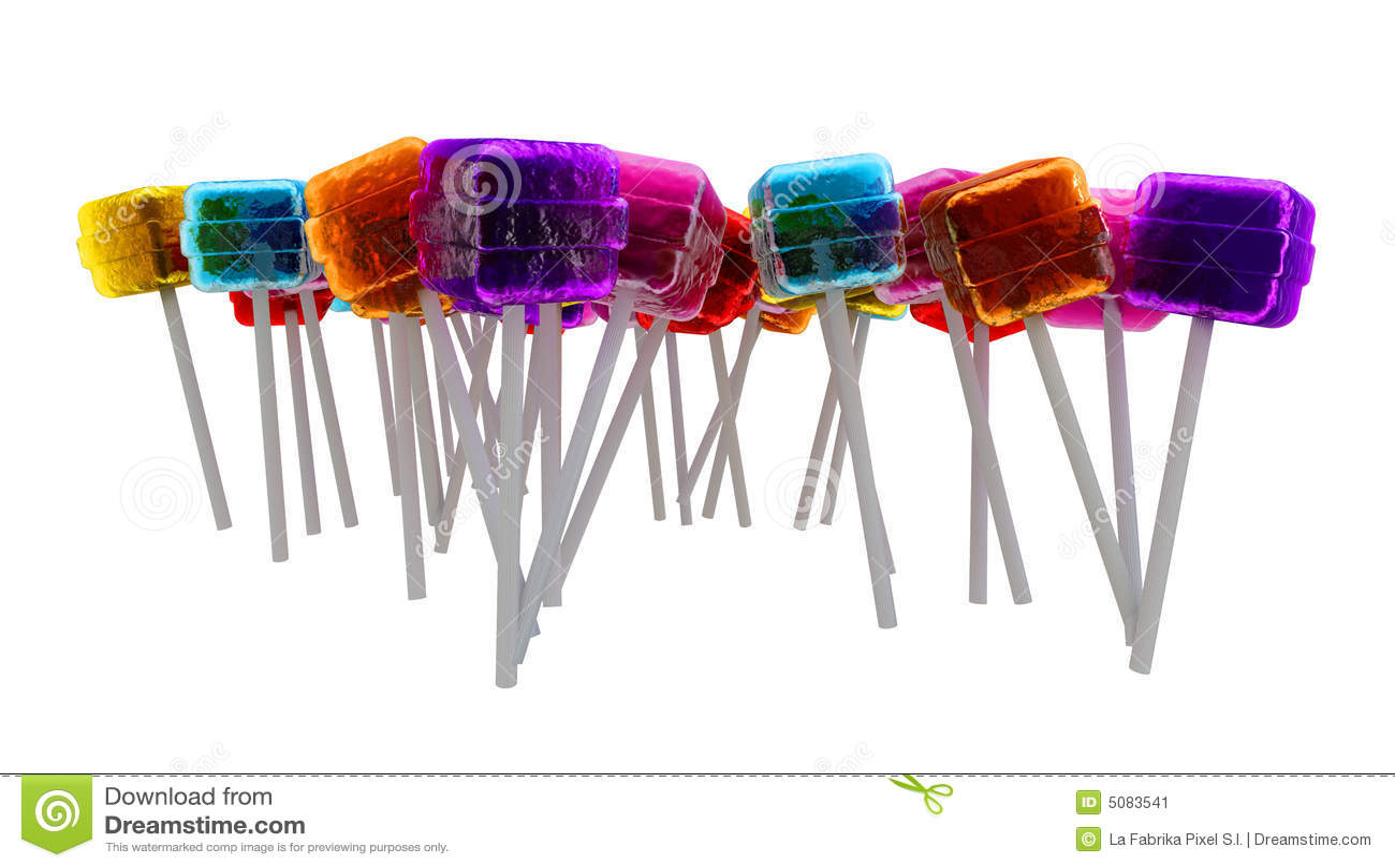 De samenstelling van lollys