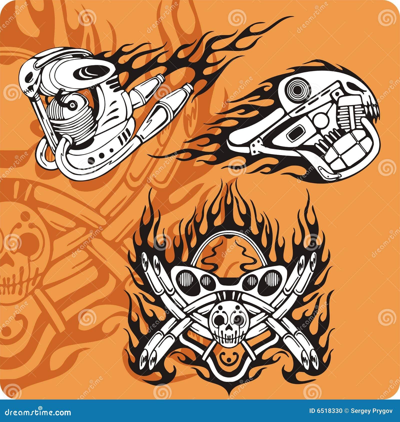 De samenstellingen van de motorfiets - reeks 14