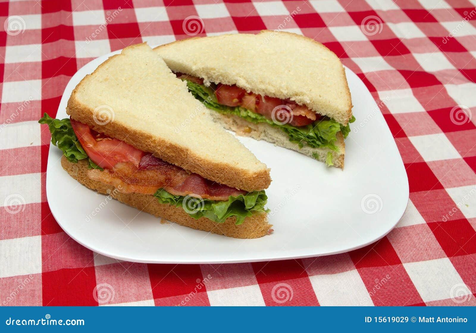 De sandwich van Blt