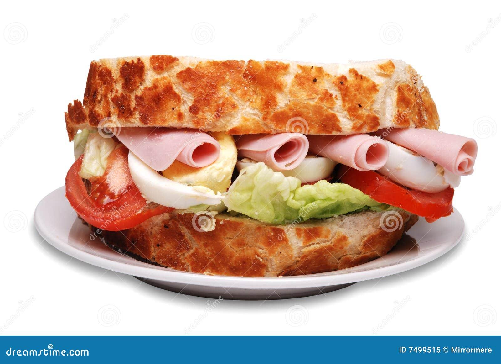 De sandwich van de ham