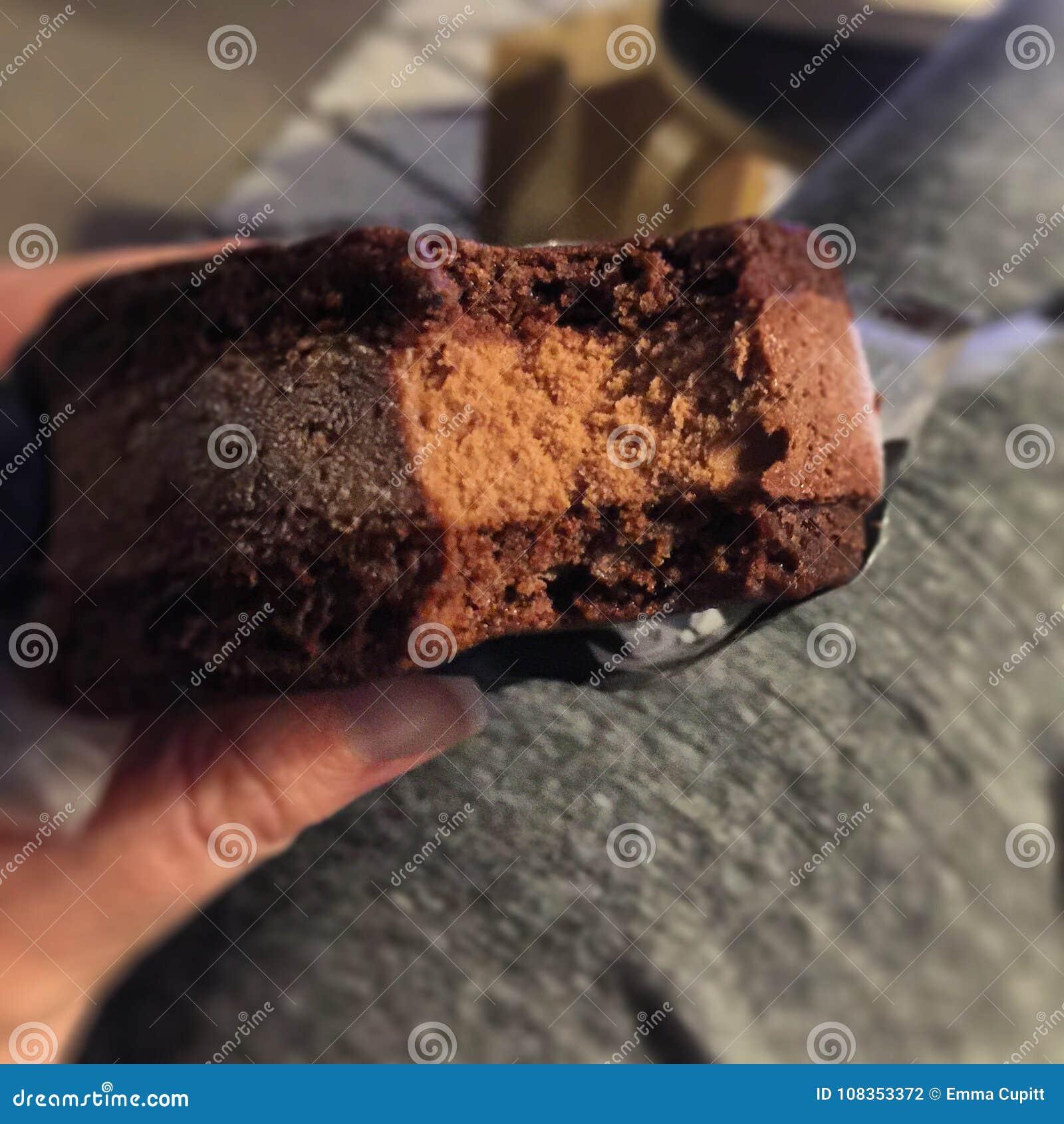 De sandwich van het chocoladeroomijs