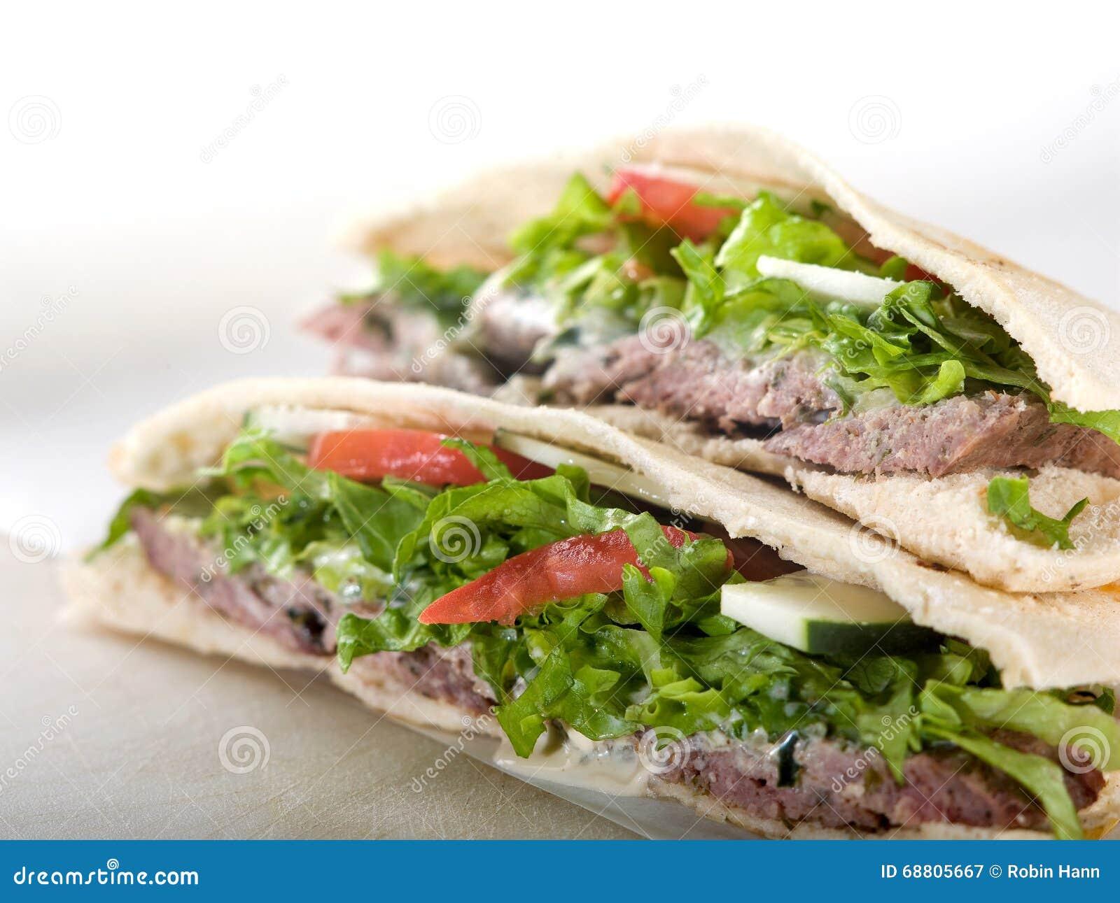 De sandwich van het gyroscooppitabroodje