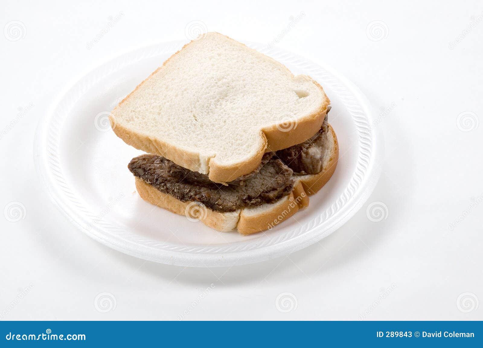 De Sandwich van het Rundvlees van het braadstuk