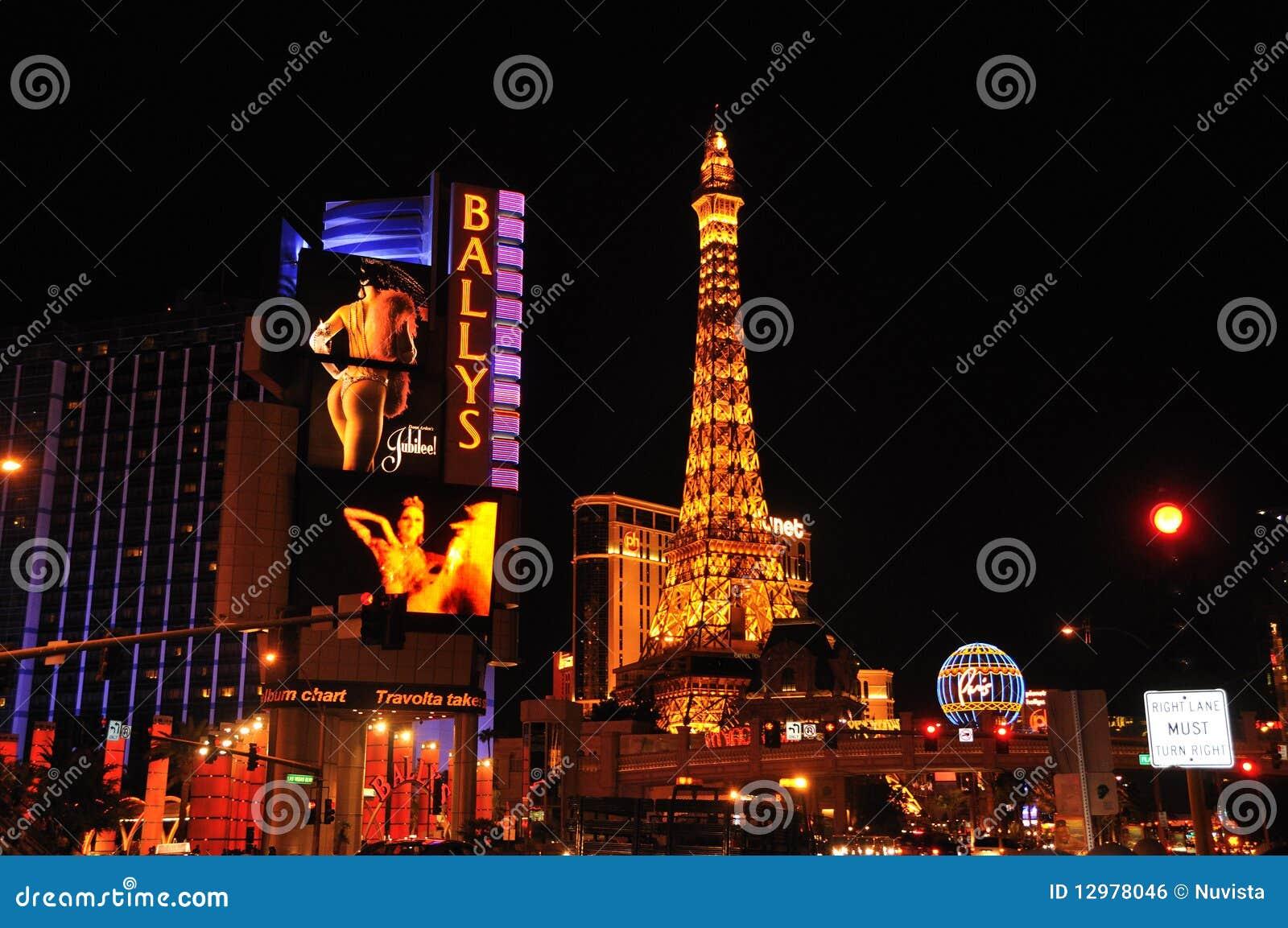 De Scène Las Vegas van de nacht