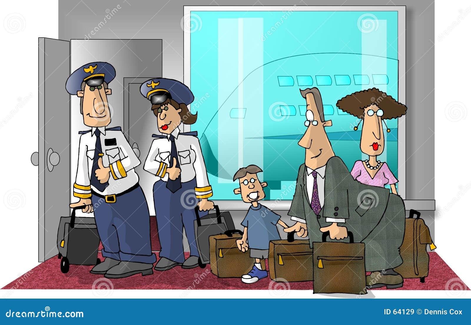 De scène van de luchthaven