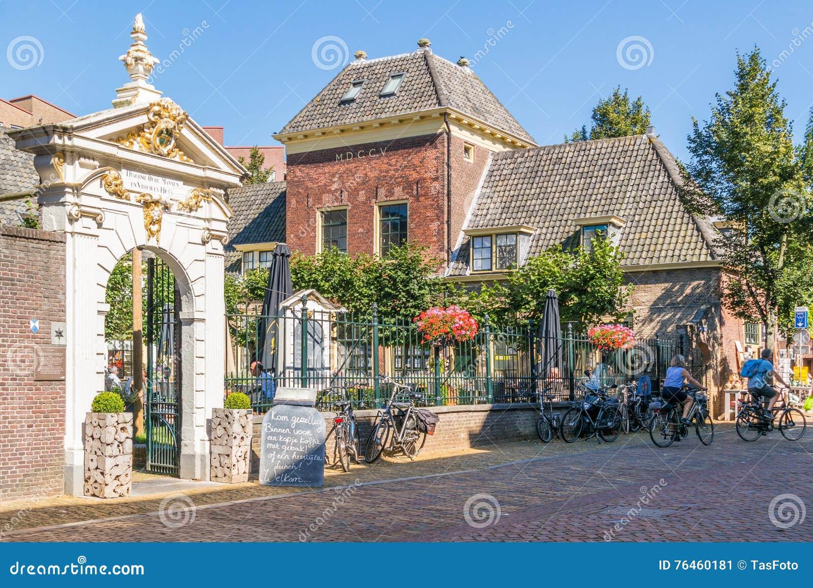De scène van de Sonoystraat in Alkmaar, Nederland