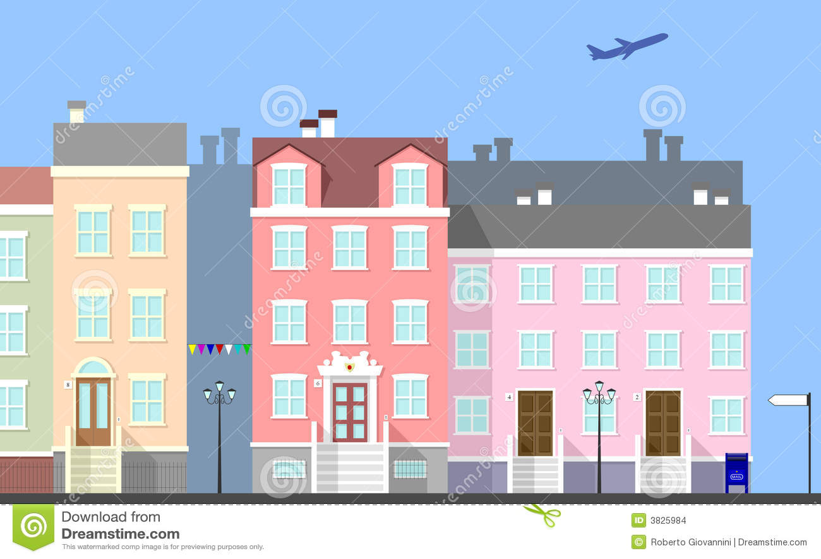 De Scène van de Straat van de stad [1]