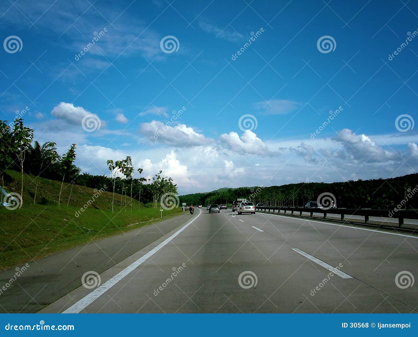 De scène van de weg