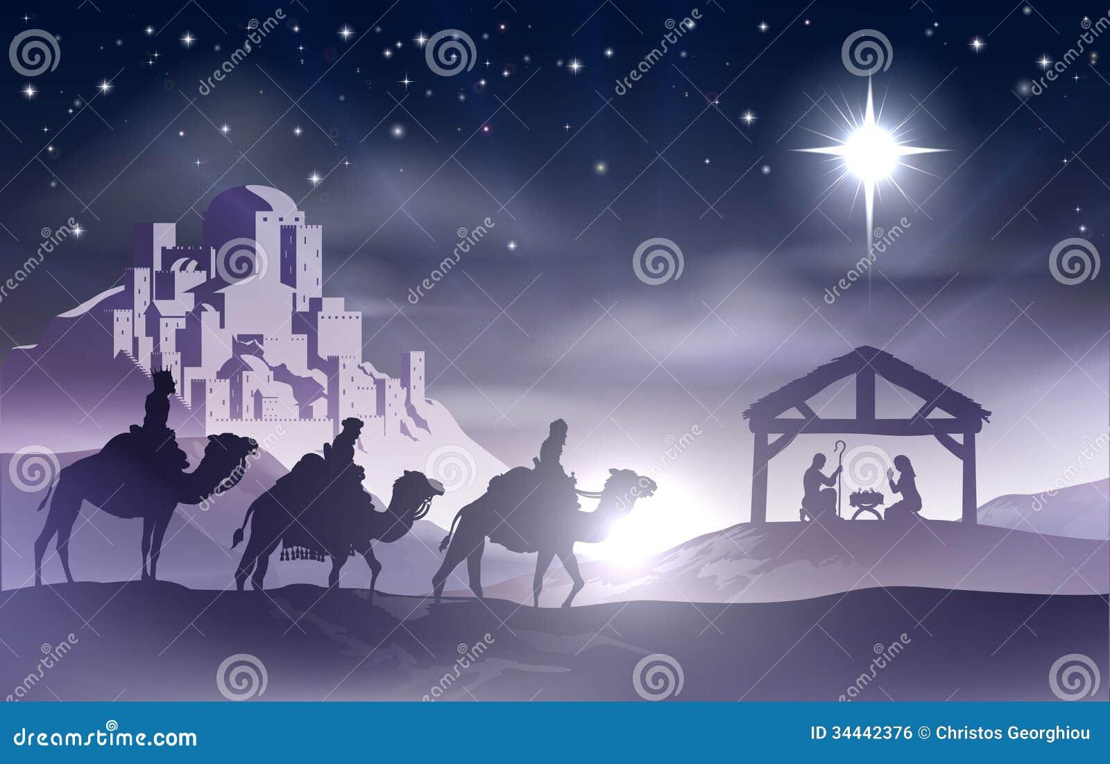 De Scène van geboorte van Christuskerstmis