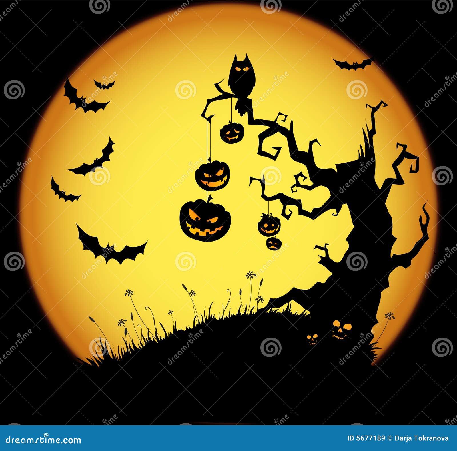De scène van Halloween
