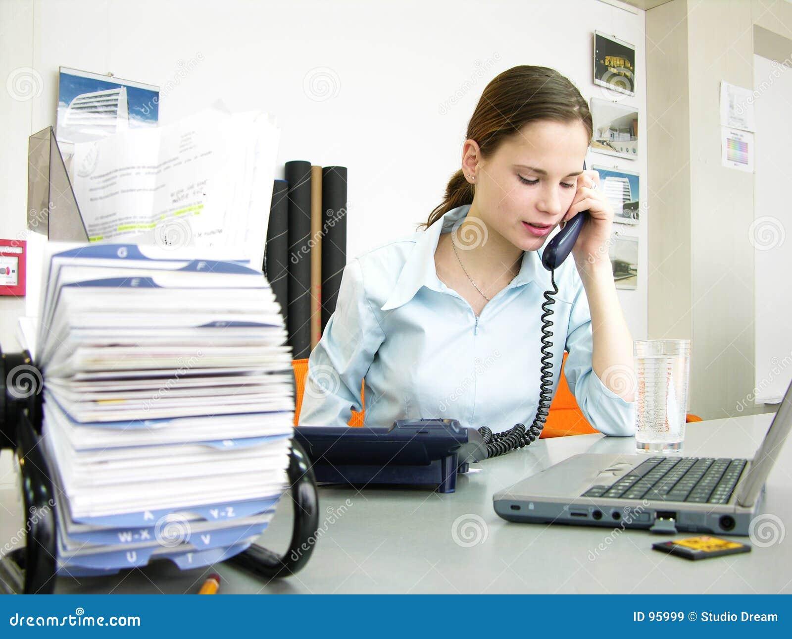 De scène van het bureau