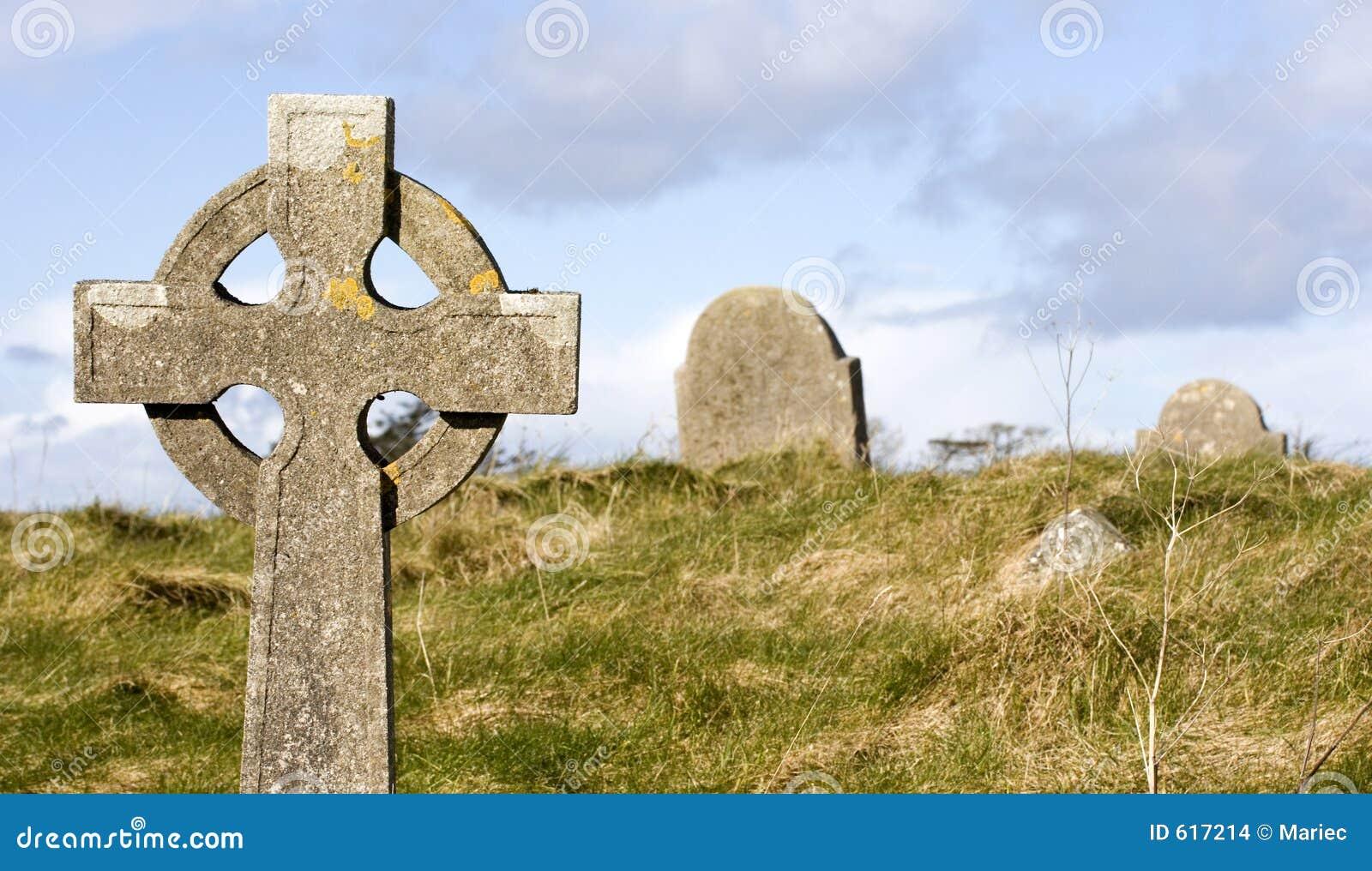 De scène van het kerkhof