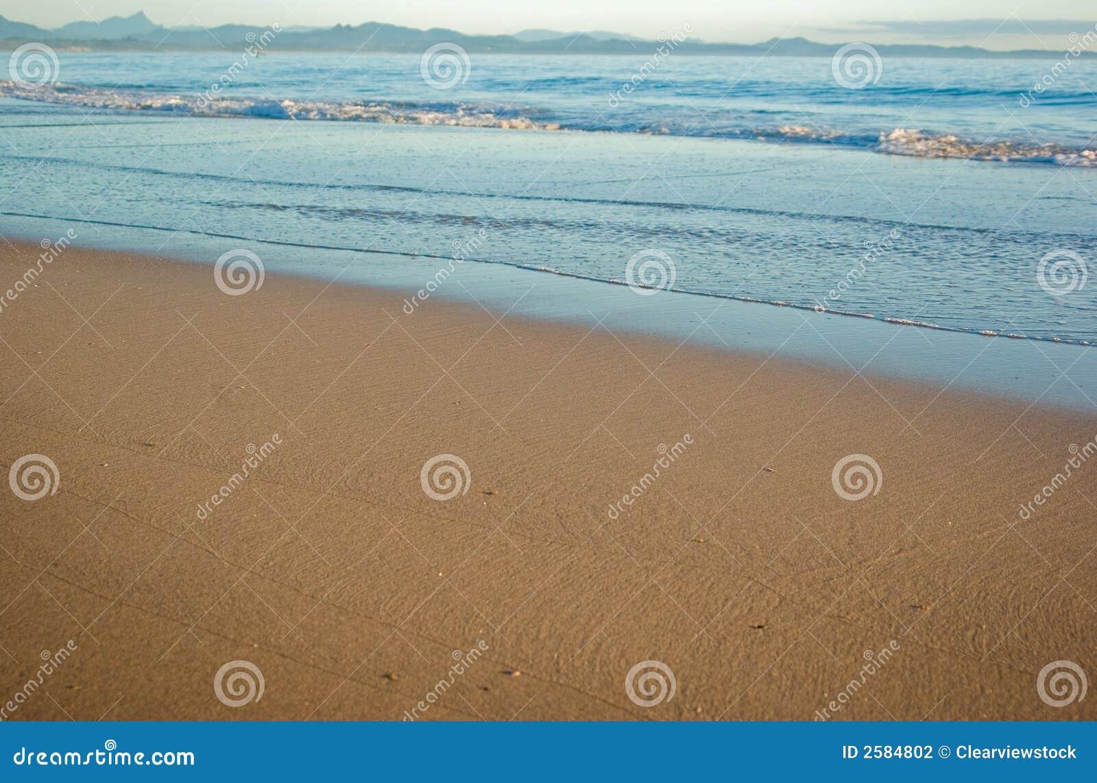 De scène van het strand