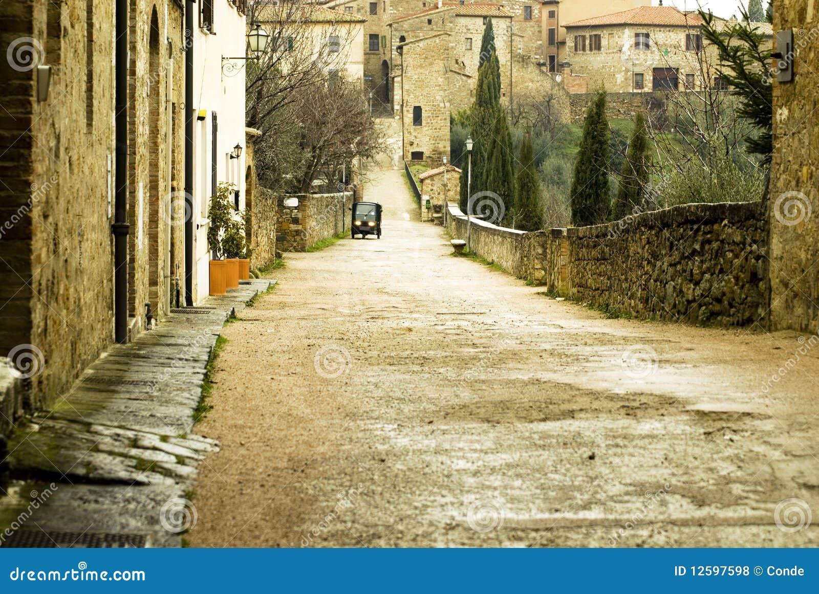 De scène van Tipical van Toscanië, Italië
