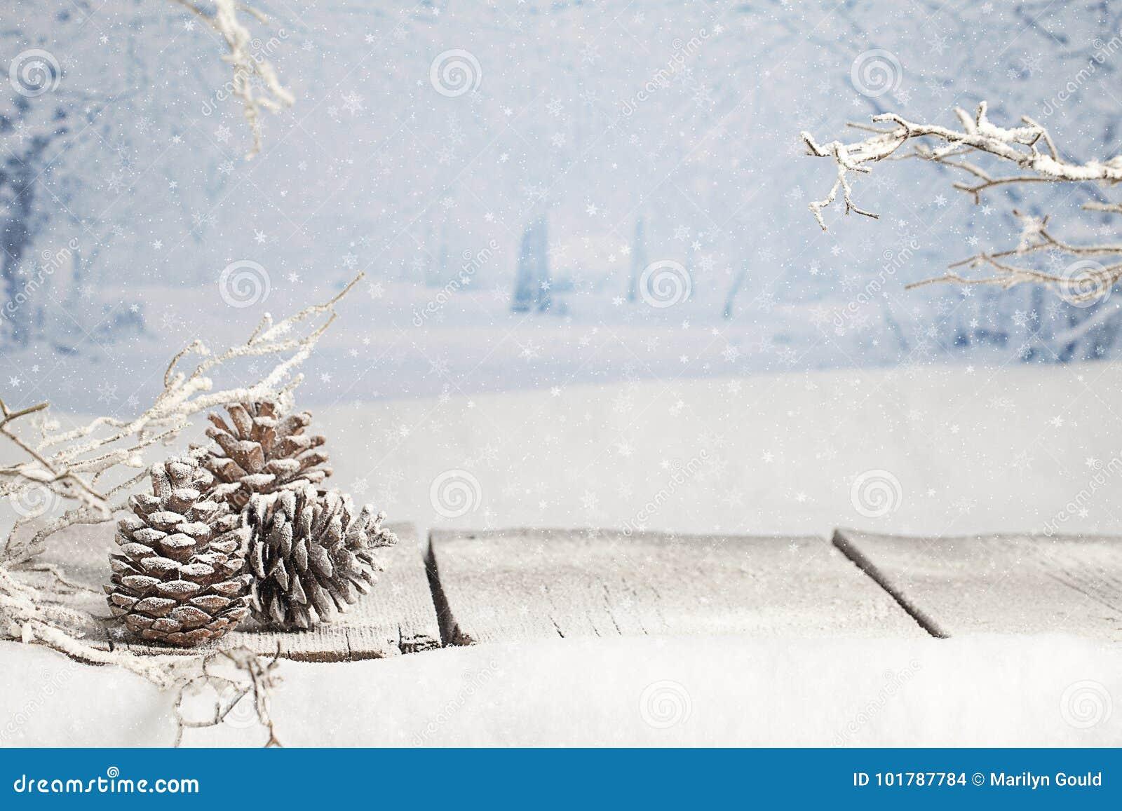 De scène van de winterkerstmis