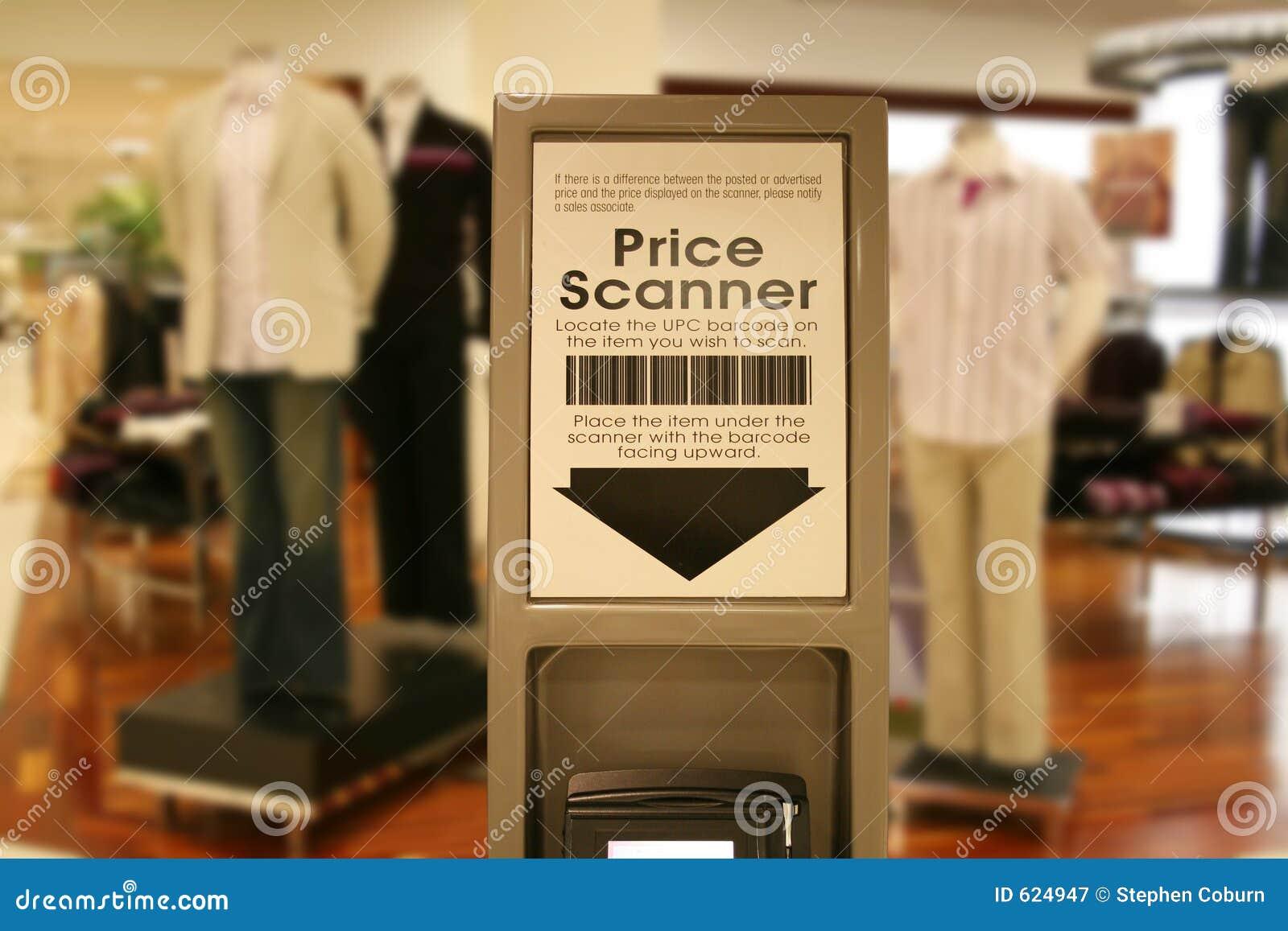 De Scanner van de prijs bij Wandelgalerij