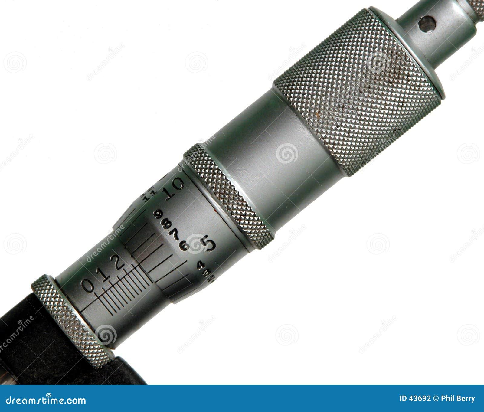 De schaal van de micrometer
