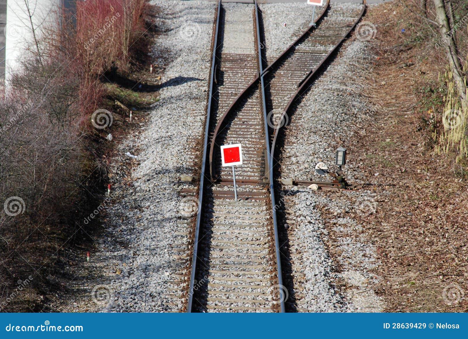 De schakelaar van de trein