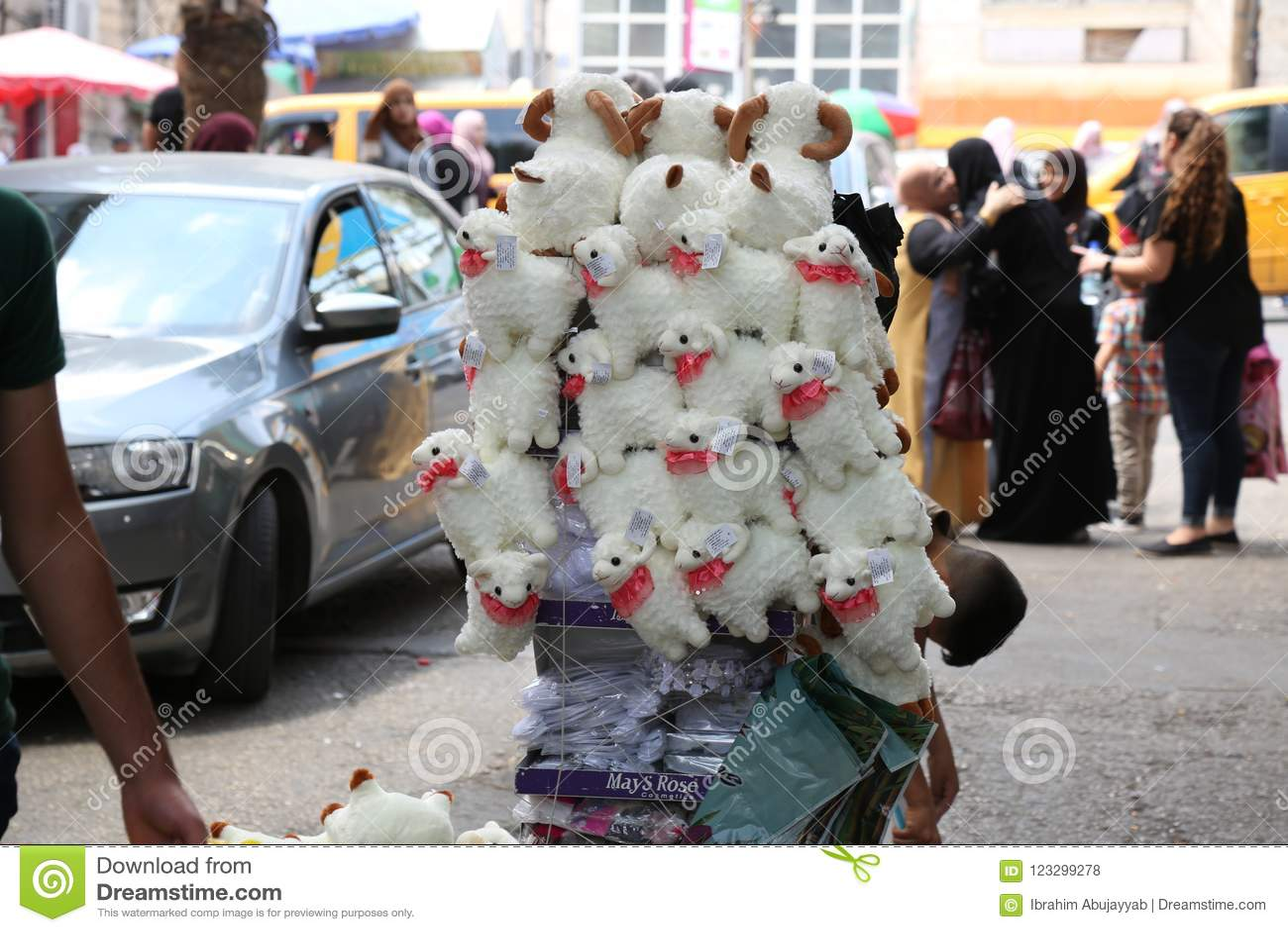 De schapen` populaire markt van kinderenspelen `