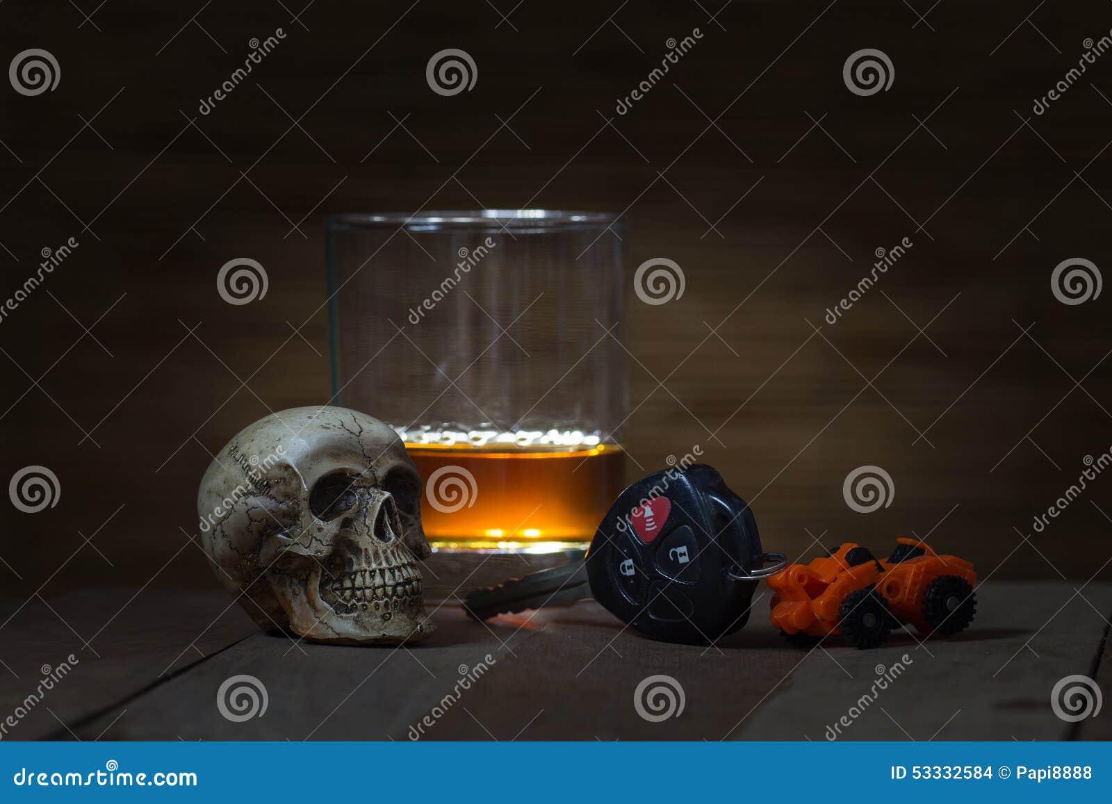 De schedel en het Drinken niet Drijfstilleven