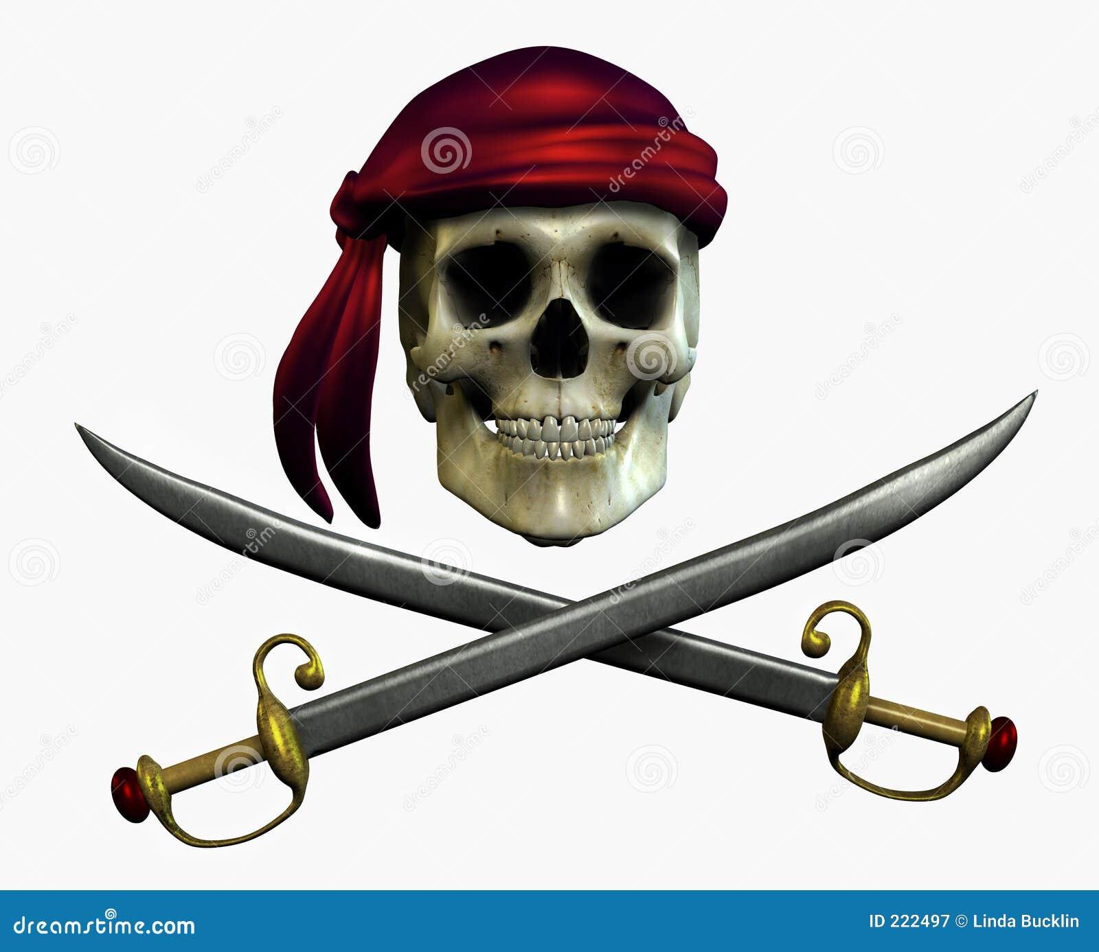 De Schedel van de piraat - omvat het knippen weg