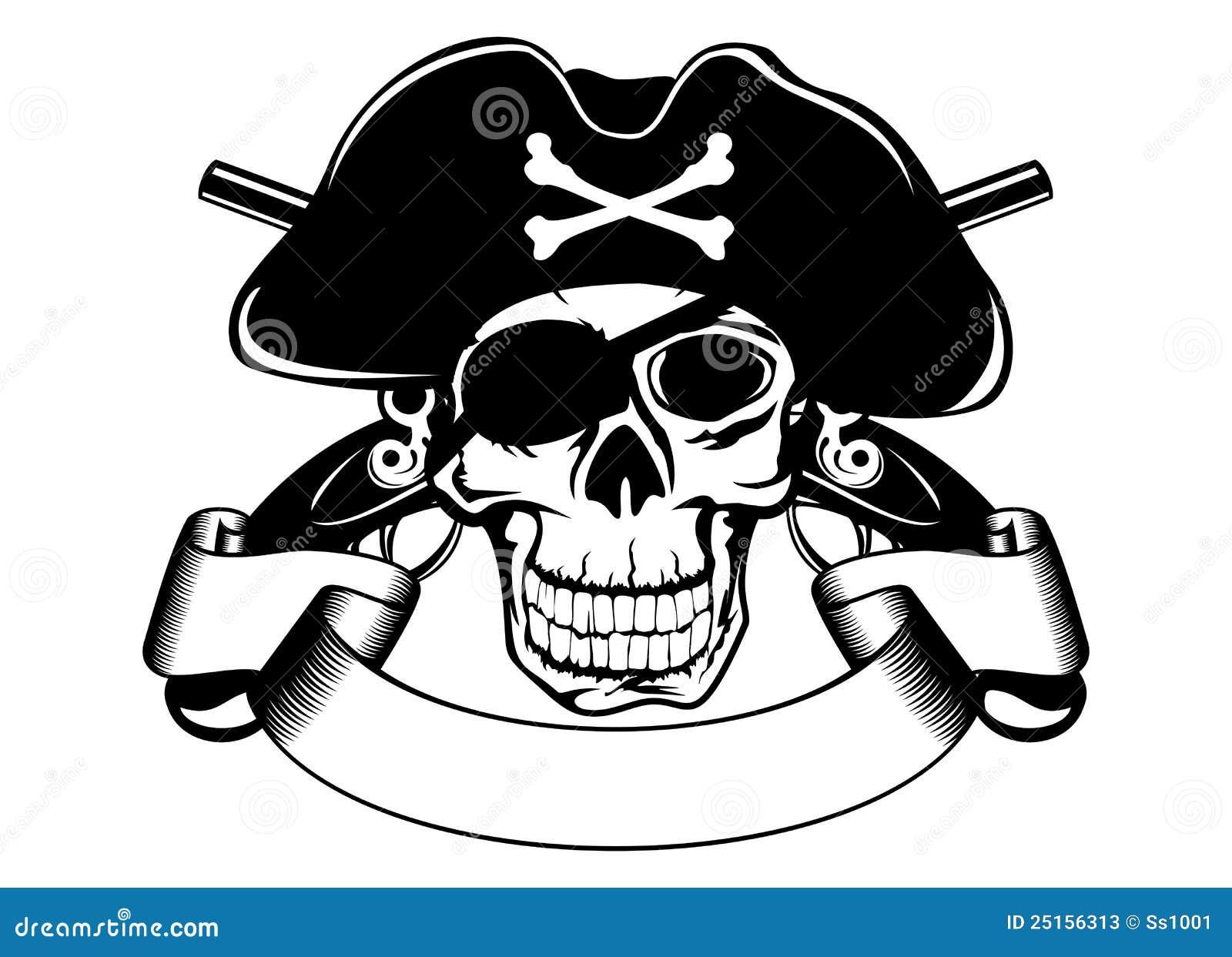 De schedel van de piraterij