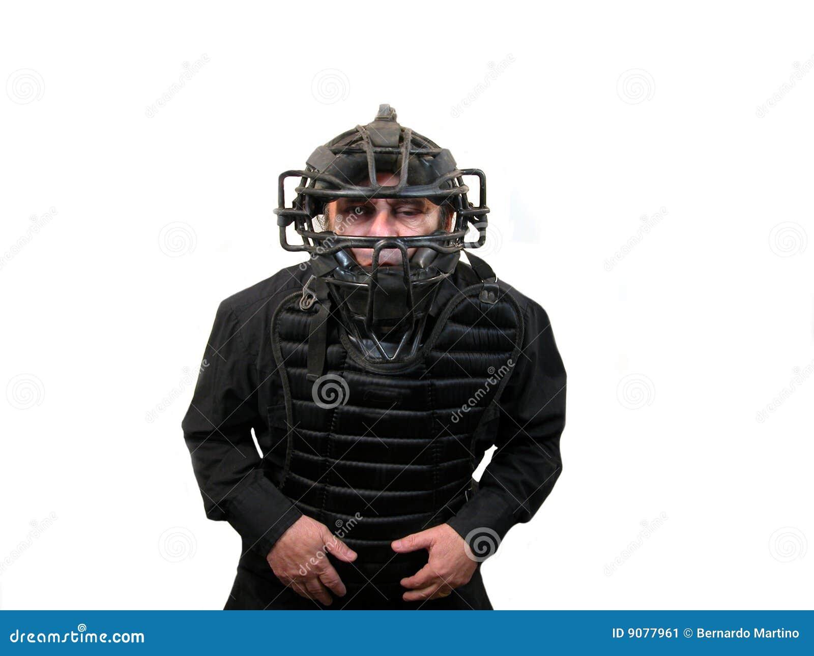 De scheidsrechter van het honkbal