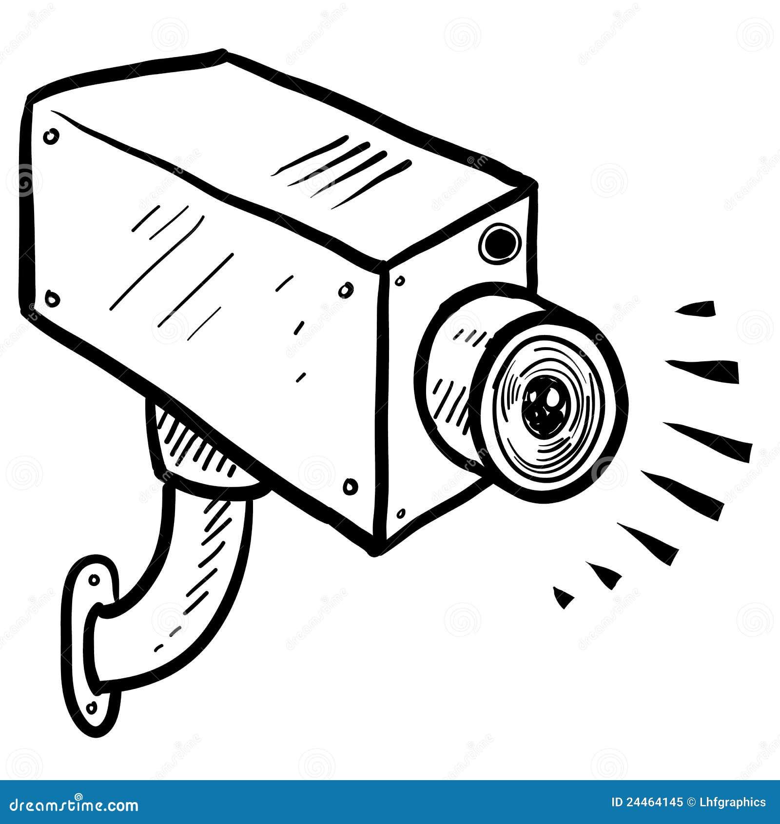 de schets van de de veiligheidscamera van kabeltelevisie