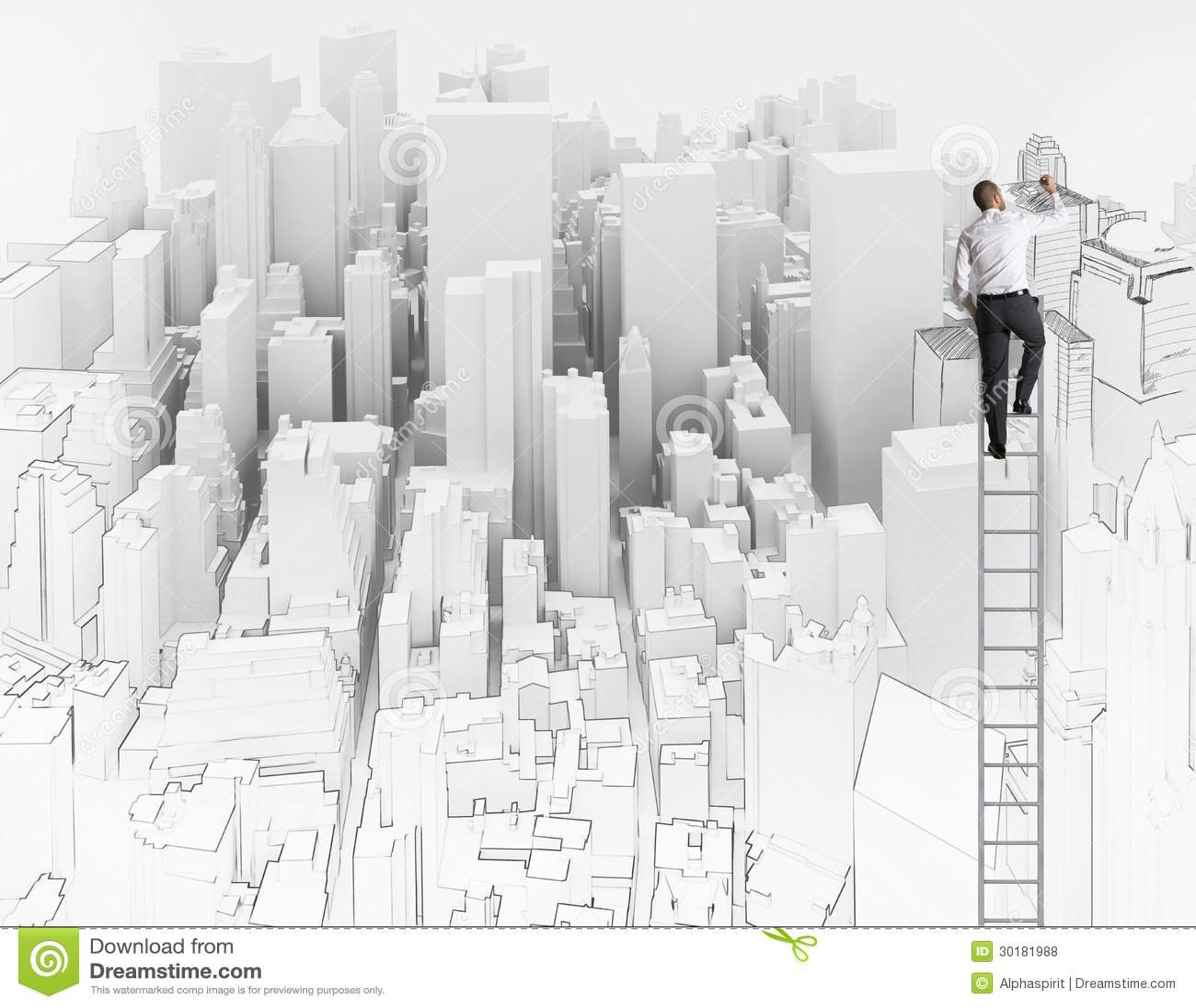 Schets van een architect
