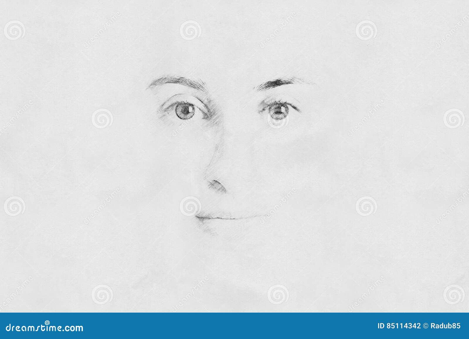 De Schets van het vrouwengezicht