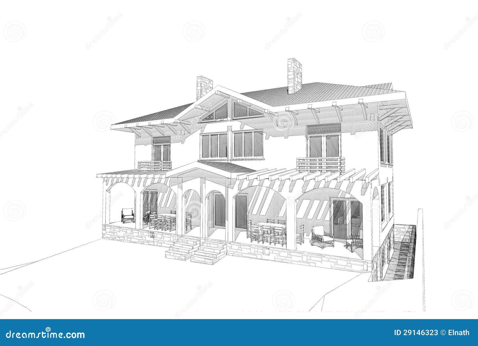 Красивый рисунок домик