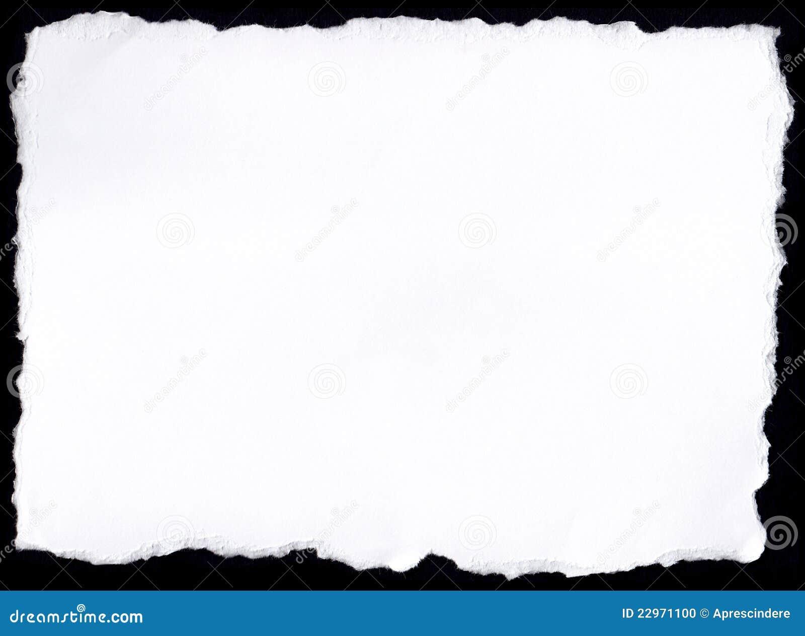 De scheur van het document