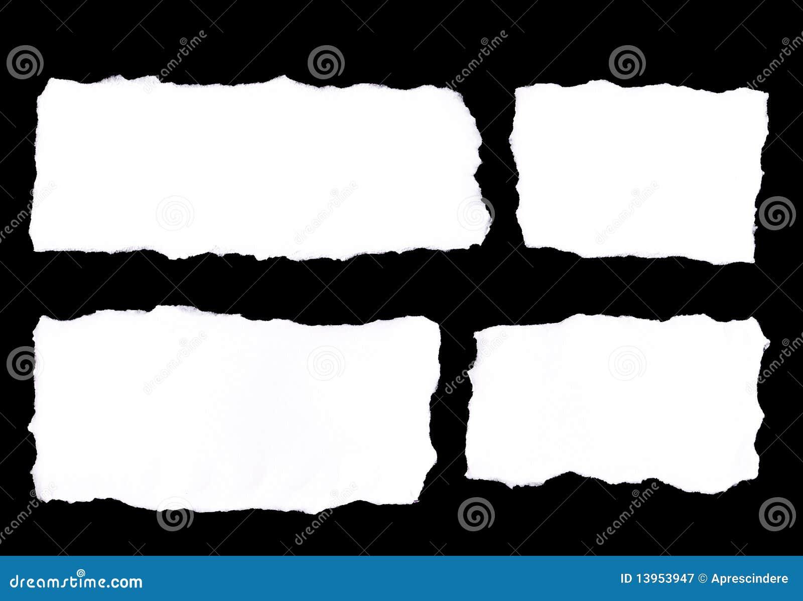 De scheuren van het document