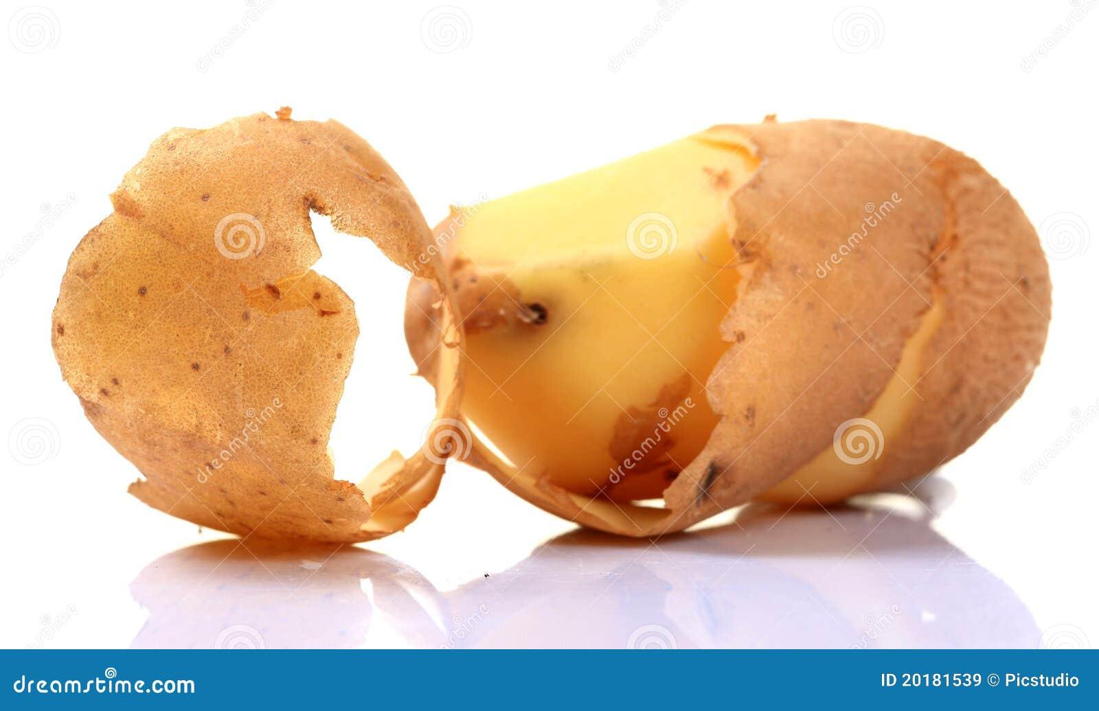 De schil van de aardappel