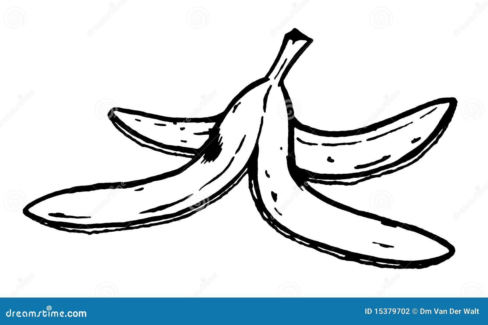 De schil van de banaan