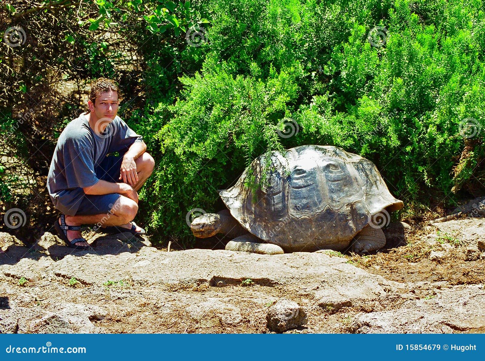 De Schildpad en de toerist van de Galapagos