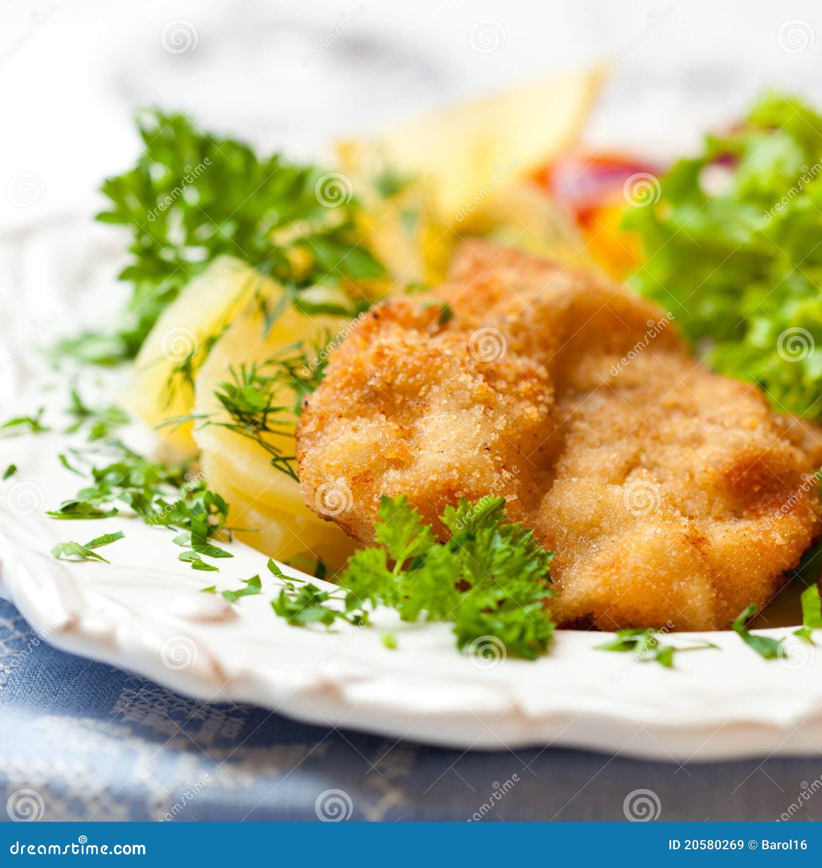 De Schnitzel van het worstje